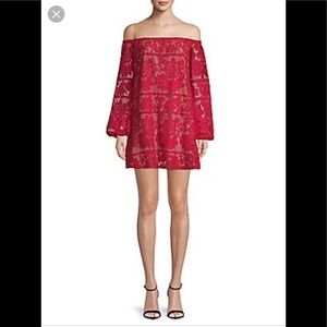For love and lemons 🍋 lace red dress S